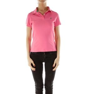 Lily Pulitzer pink palm polo